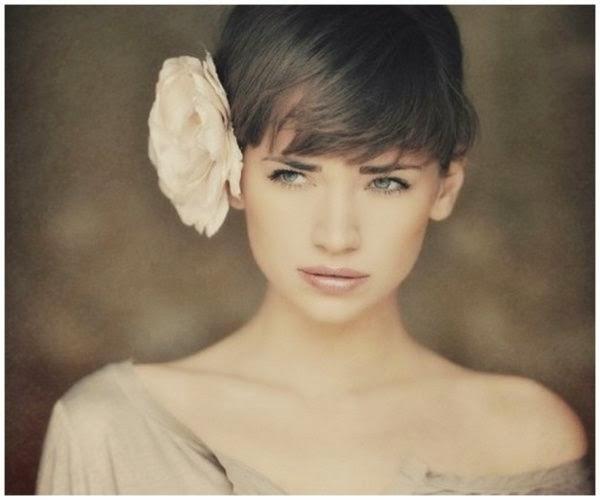 el pelo corto para una novia resulta original y aunque es cierto que ofrece menos de creacin de peinado que un pelo largo