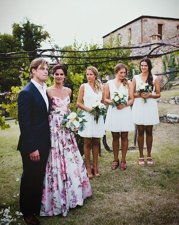 vestido flores boda