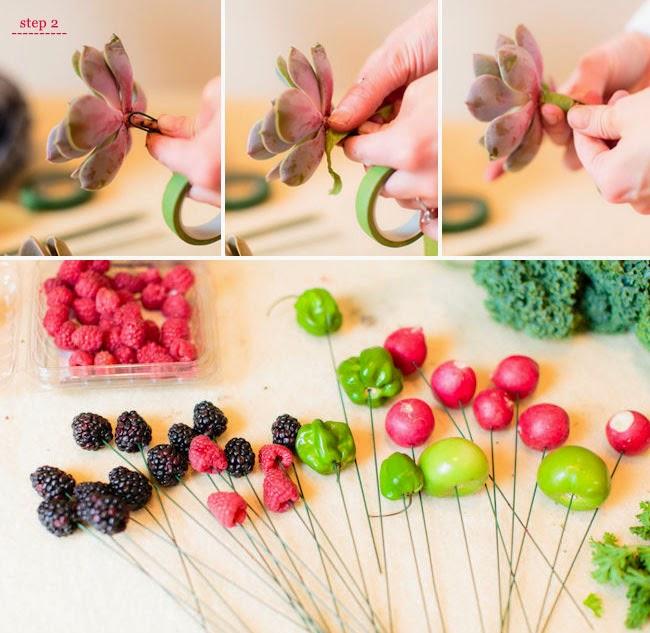 diy ramo novia vegetal