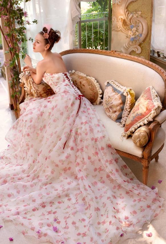 vestido novia floral