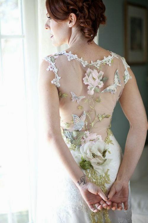 espalda novia flores
