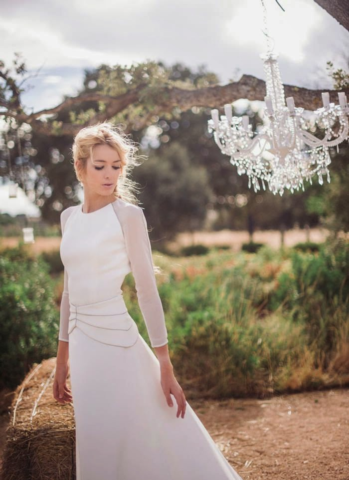 falda vestido novia evasé