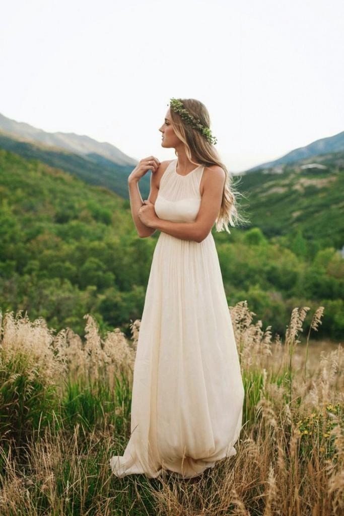 falda vestido novia recta
