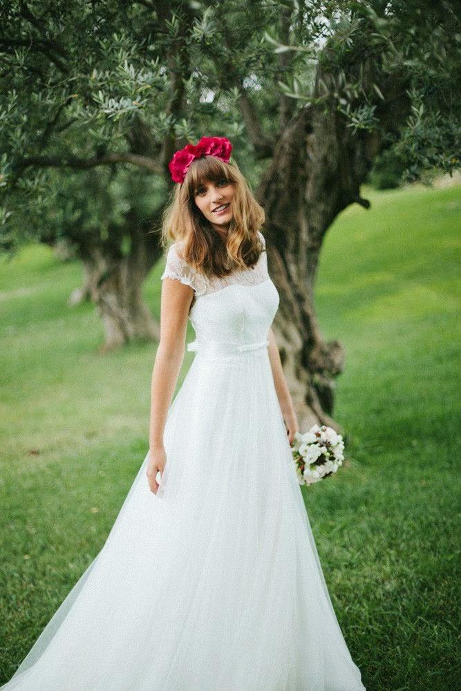 falda vestido novia clasica