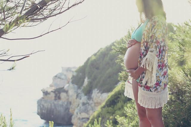 pregnant in the beach