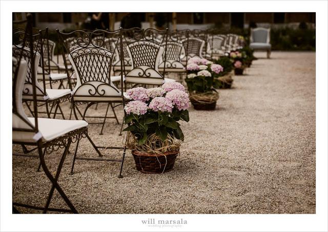 pasillo ceremonia hortensias