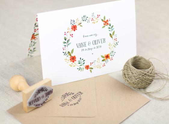 invitacion boda flores