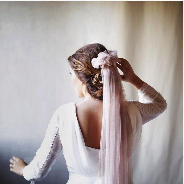 velo rosa novia españa