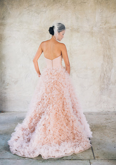 rose quartz wedding dress