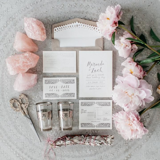 invitaciones boda rosa cuarzo