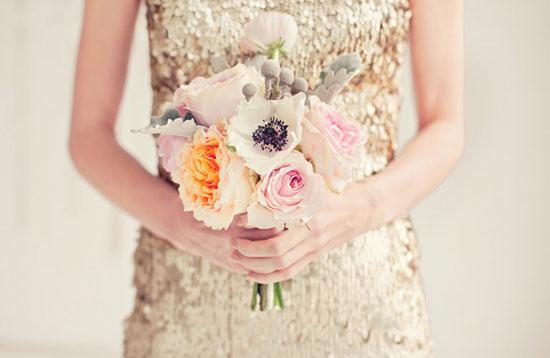 vestido dorado novia