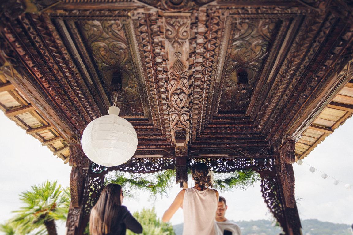 alba y jaime boda casa modernista barcelona aire libre