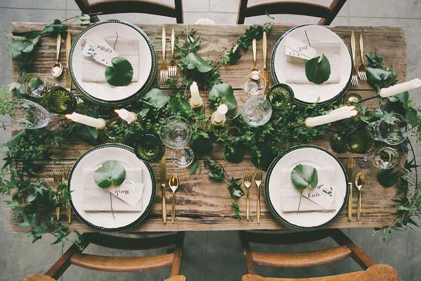 mesa boda sin manteleria