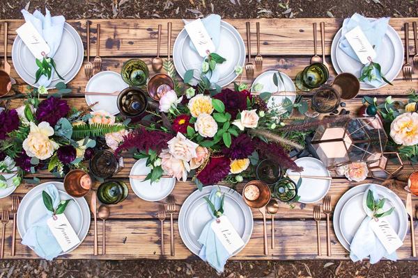 mesa boda rustic chic