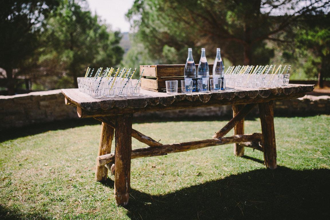 buffet agua boda