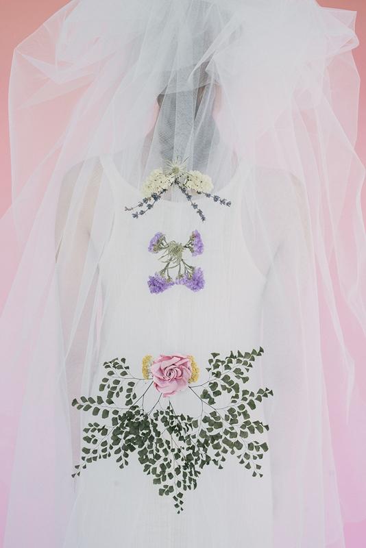 velo de novia con flores