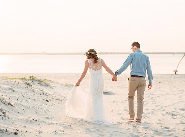 boda intima playa