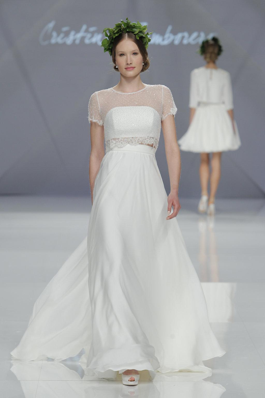 vestido novia dos piezas cristina tamborero 2017
