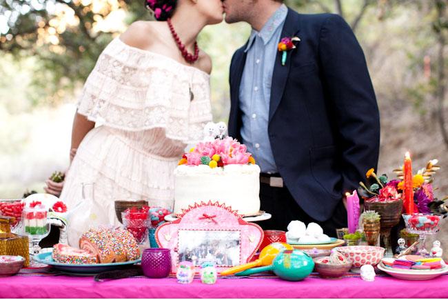 buffet bodas con color