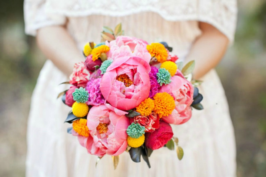ramo de novia colorido 3