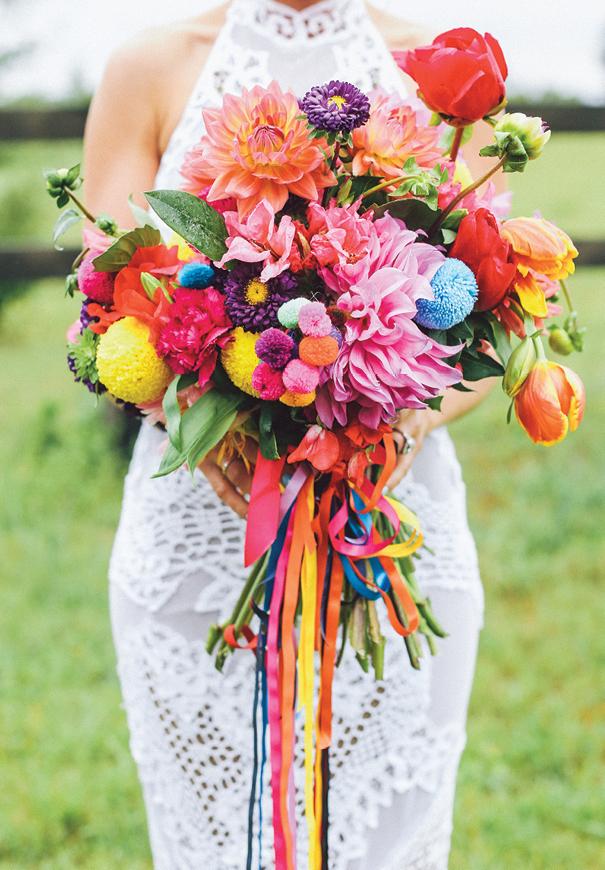 ramo novia muy colorido