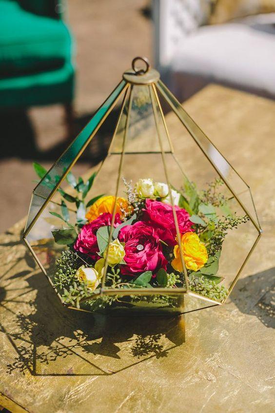 terrario boda flores frescas