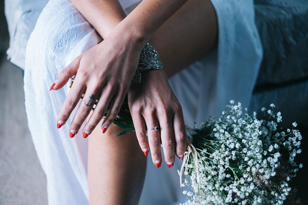 manicura novia moderna