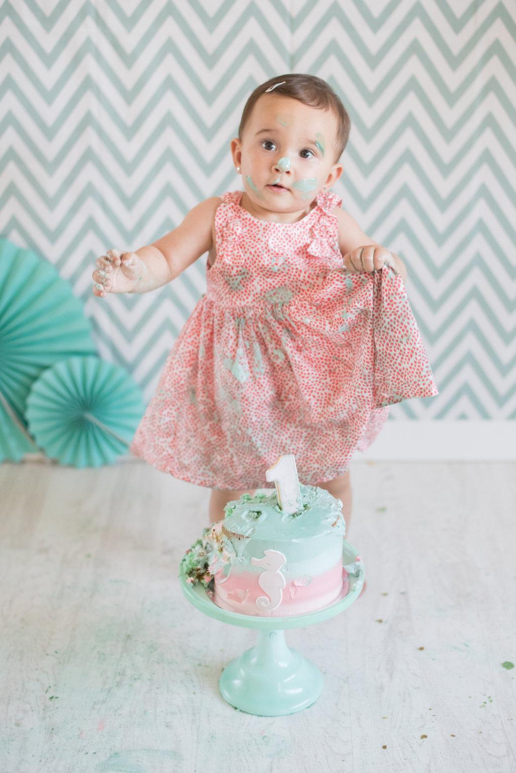 smash the cake con Daniela
