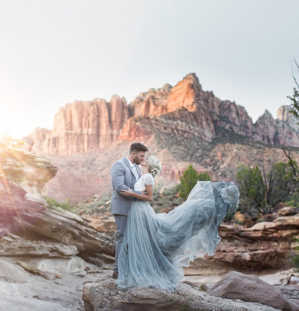 desert tulle wedding
