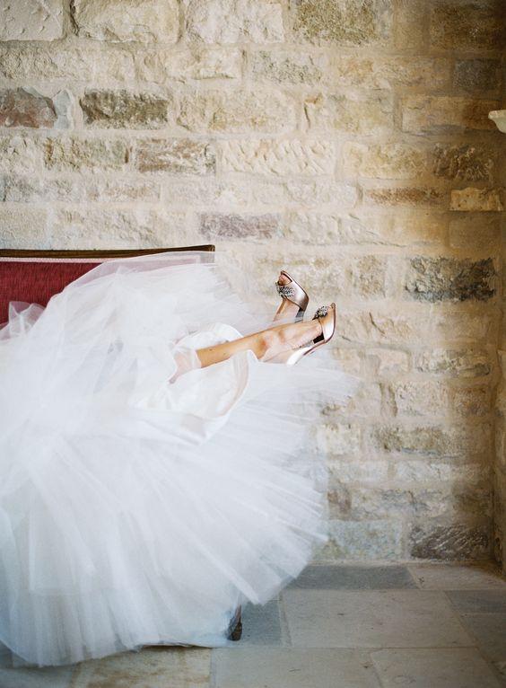falda de tul para novias