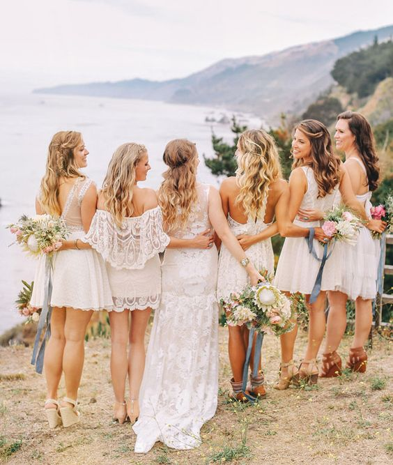 bridesmaids boho chic