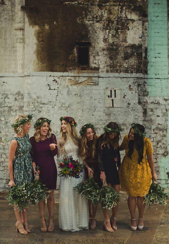 bridesmaids boho
