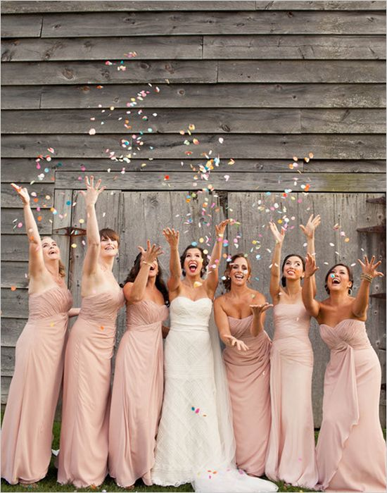 bridesmaids confetti