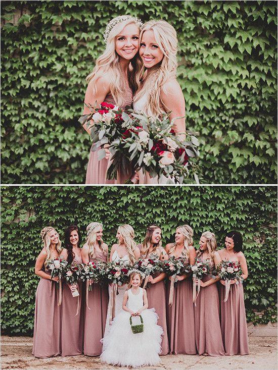 bridesmaids pink