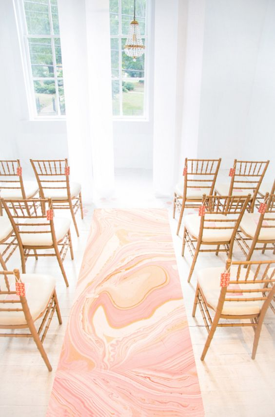 modern marble wedding