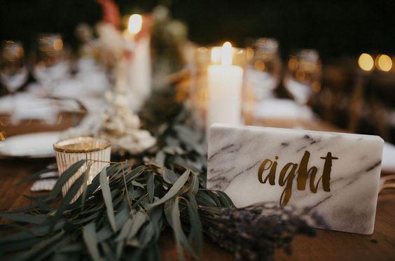 numeros mesa marmol boda