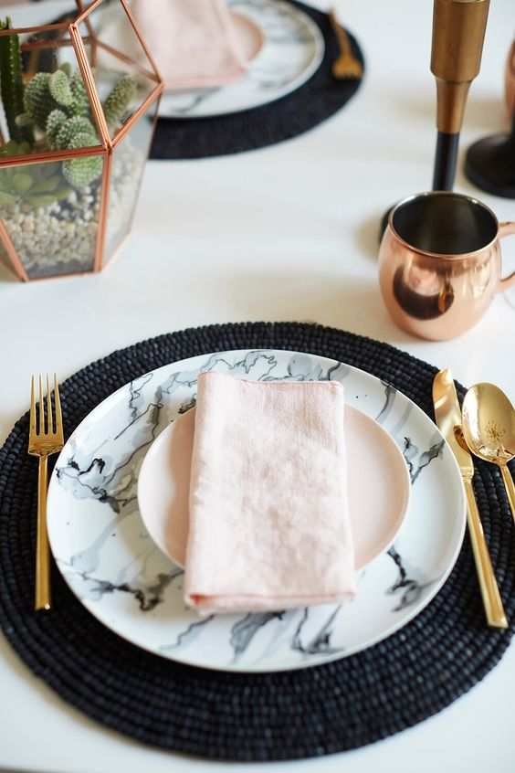 platos de marmol boda