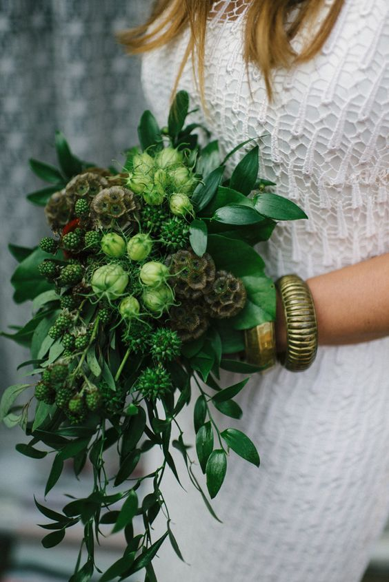 ramo novia greenery pantone