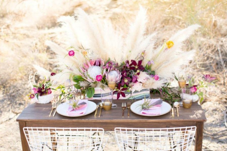 decoracion plumas en tu boda