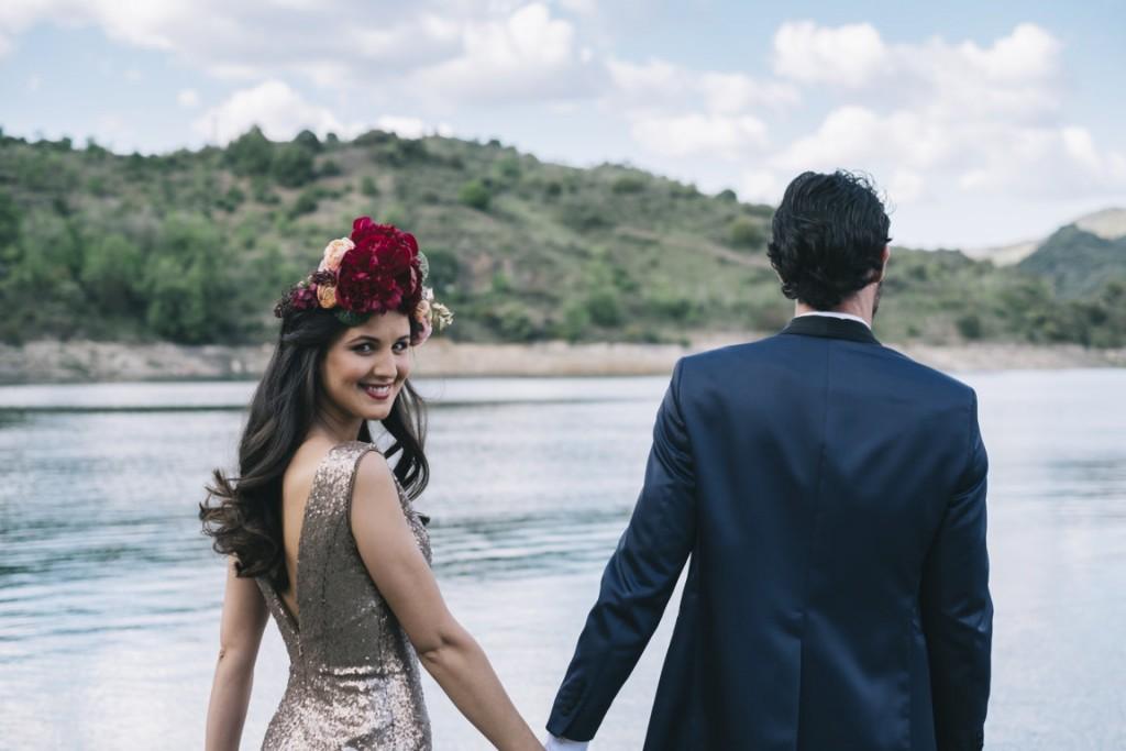 gold love editorial quiero una boda perfecta novia pelo suelto oui novias
