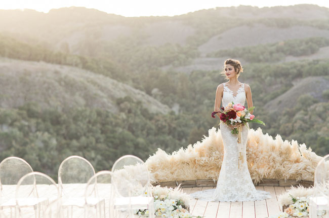plumas ceremonia boda