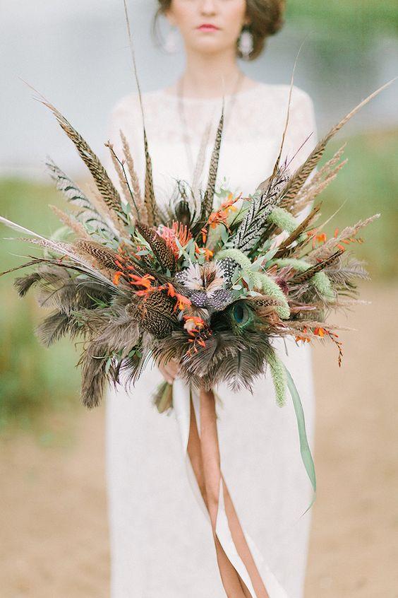 ramo con plumas