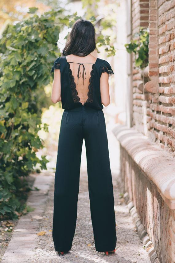 Mono-Marseille espalda descubierta invitada boda