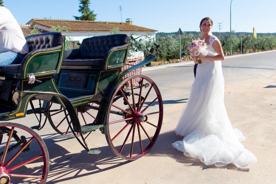 coche de caballos boda