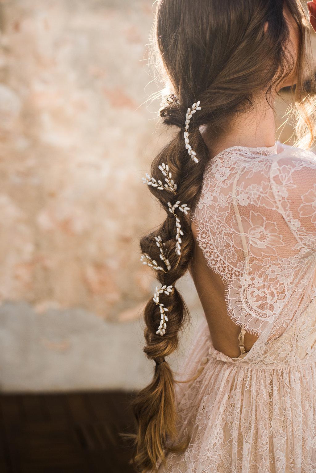 horquillas novia con trenzas boda