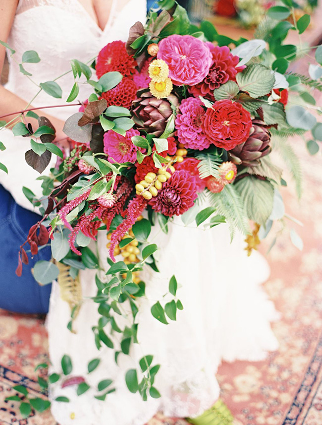 ramo novia color