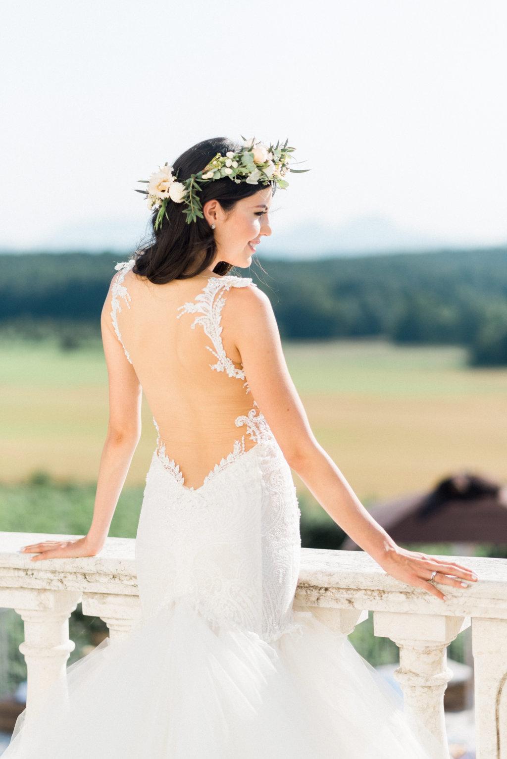 espalda descubierta vestido novia