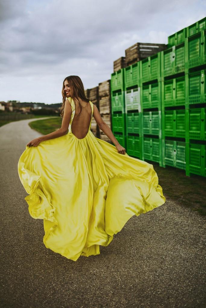 lacroxebcn vestido amarillo boda