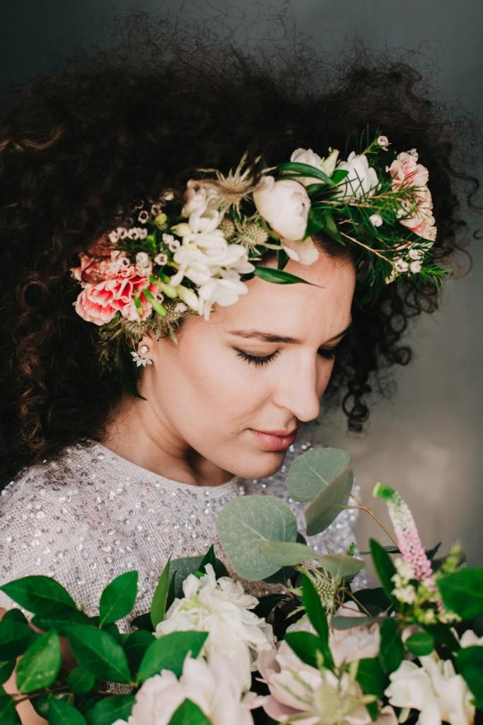 corona flores arbolande novia
