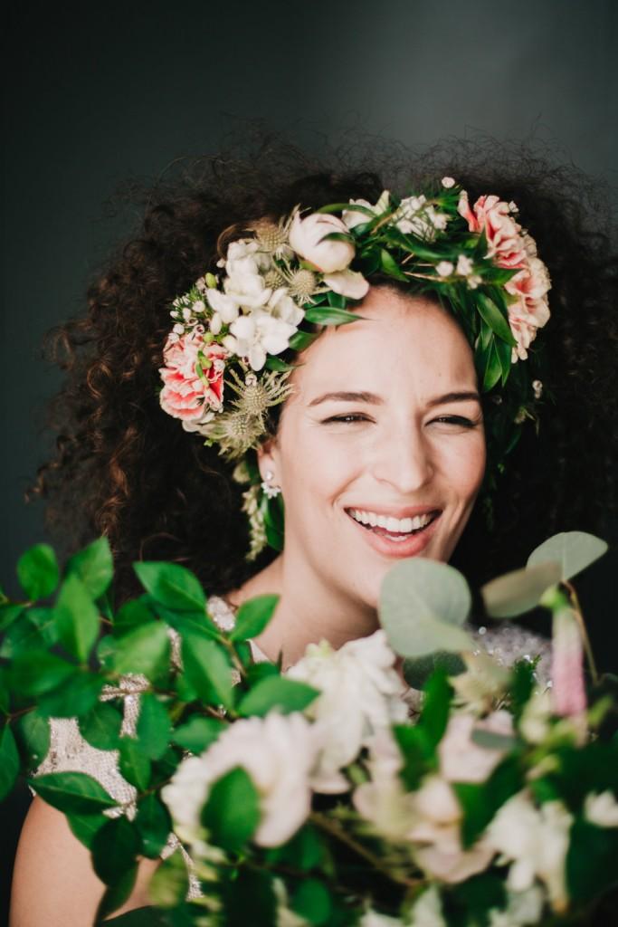 corona flores novia arbolande
